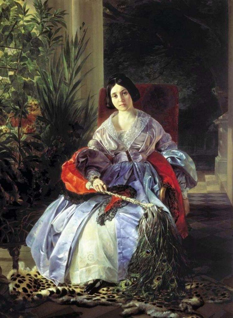 К. Брюллов. Портрет княгини Е. П. Салтыковой, 1841