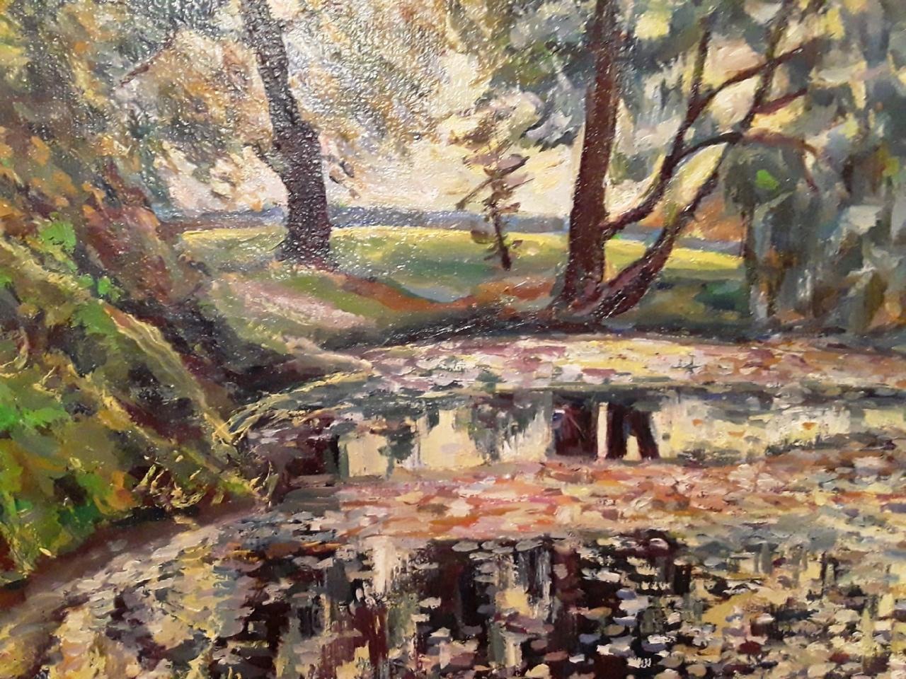 Н. Долотова Пруд в саду графа Строганова (масло)